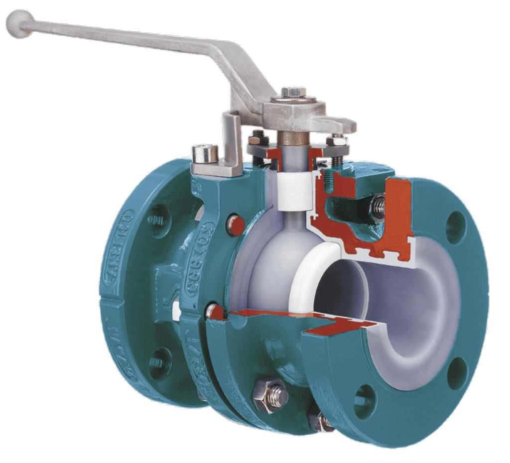 AZ Lined Full Bore Two-Piece Ball Valve