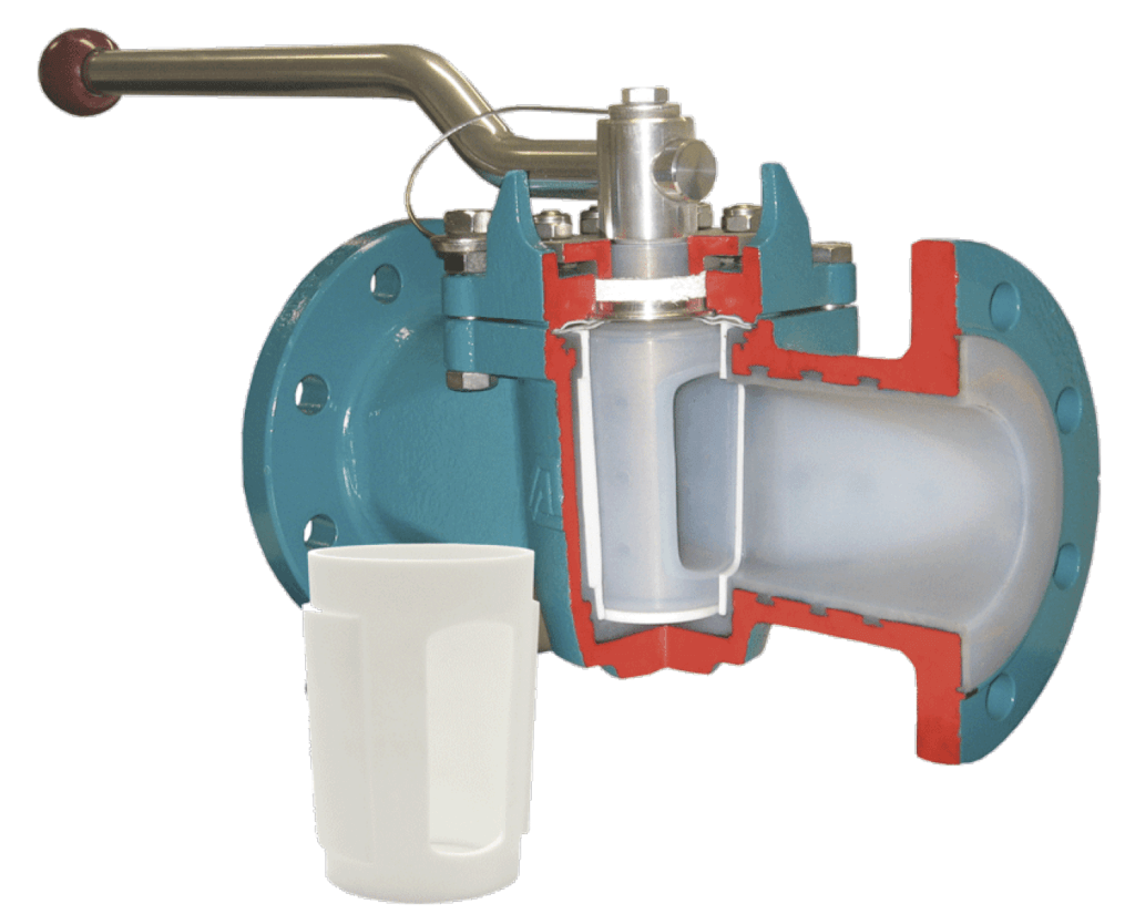 AZ Lined Plug Valve with Replaceable PTFE Sleeve